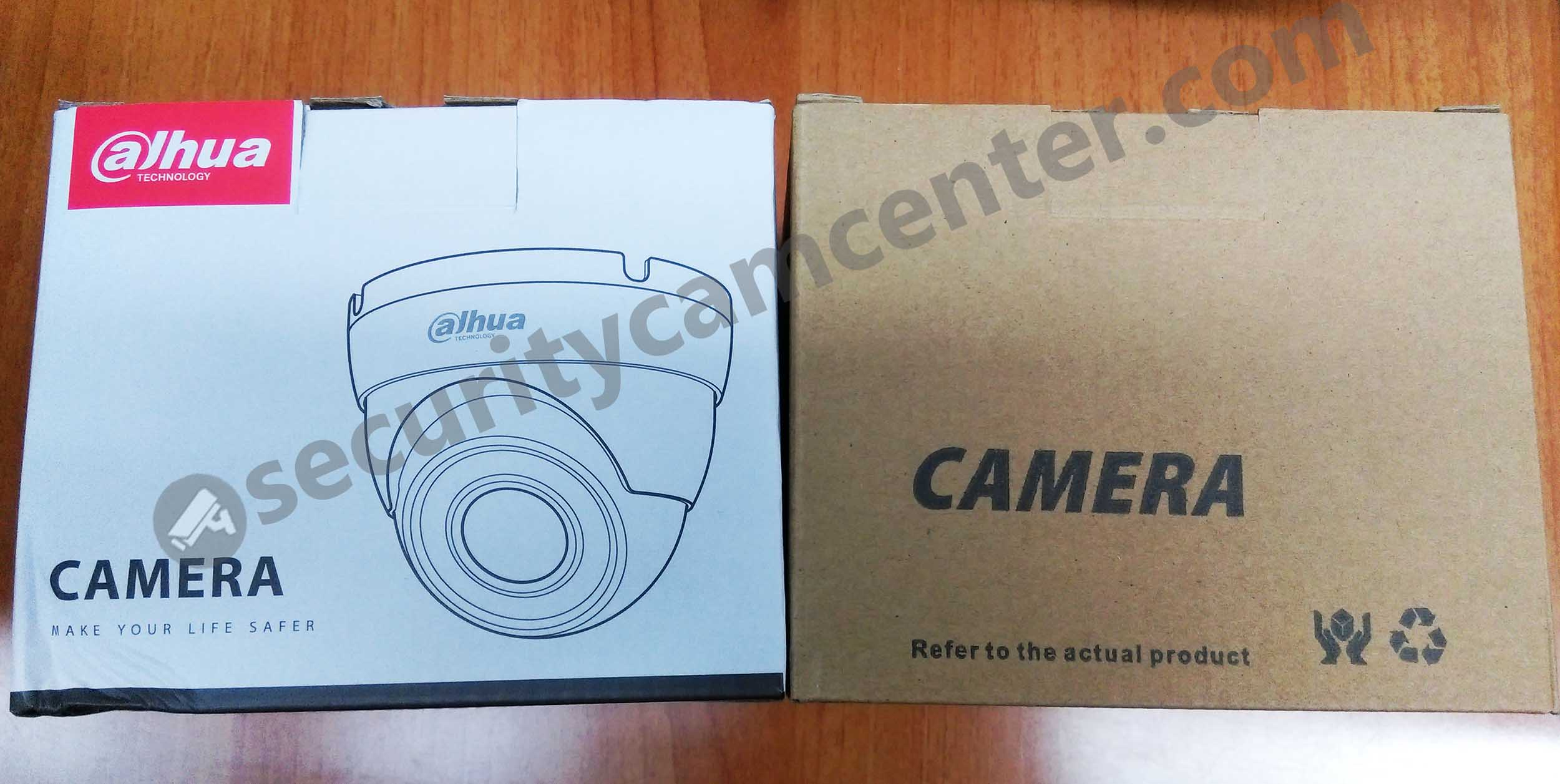 The logo version on the right and the OEM version on the left. Basically the same cameras.