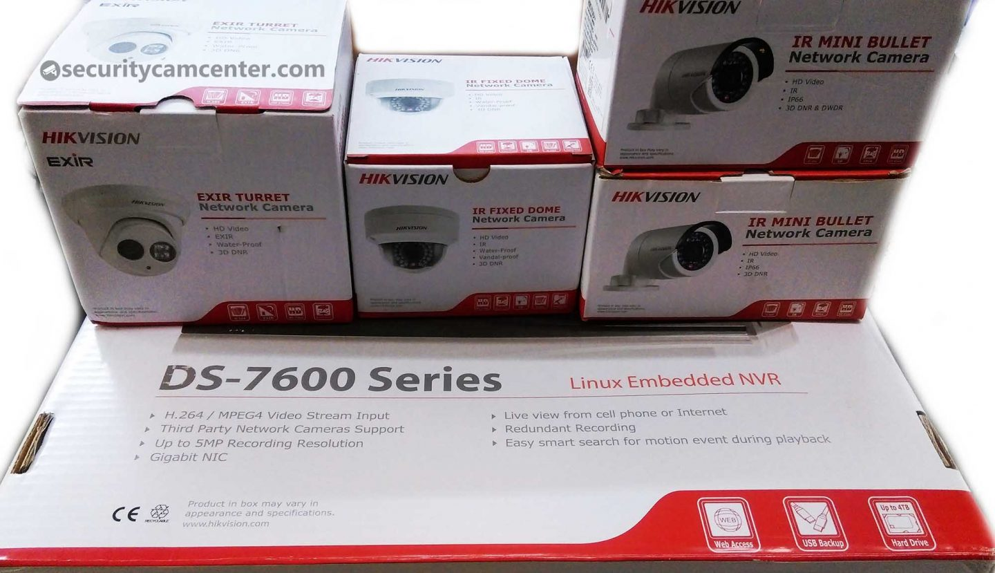 Hikvision IP Home Security Surveillance System with 4-8 cameras