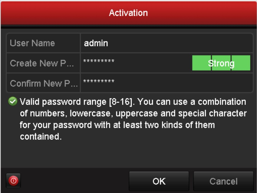 Create a strong password for your recorder.