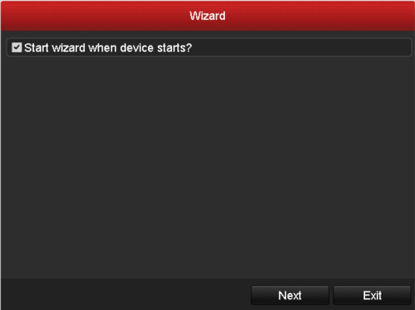 Uncheck the wizard, so it won't show up the next time you reboot the recorder.