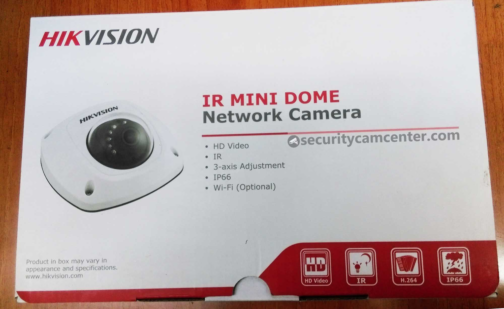 The Hikvision USA DS-2CD2542FWD-IWS retail box.