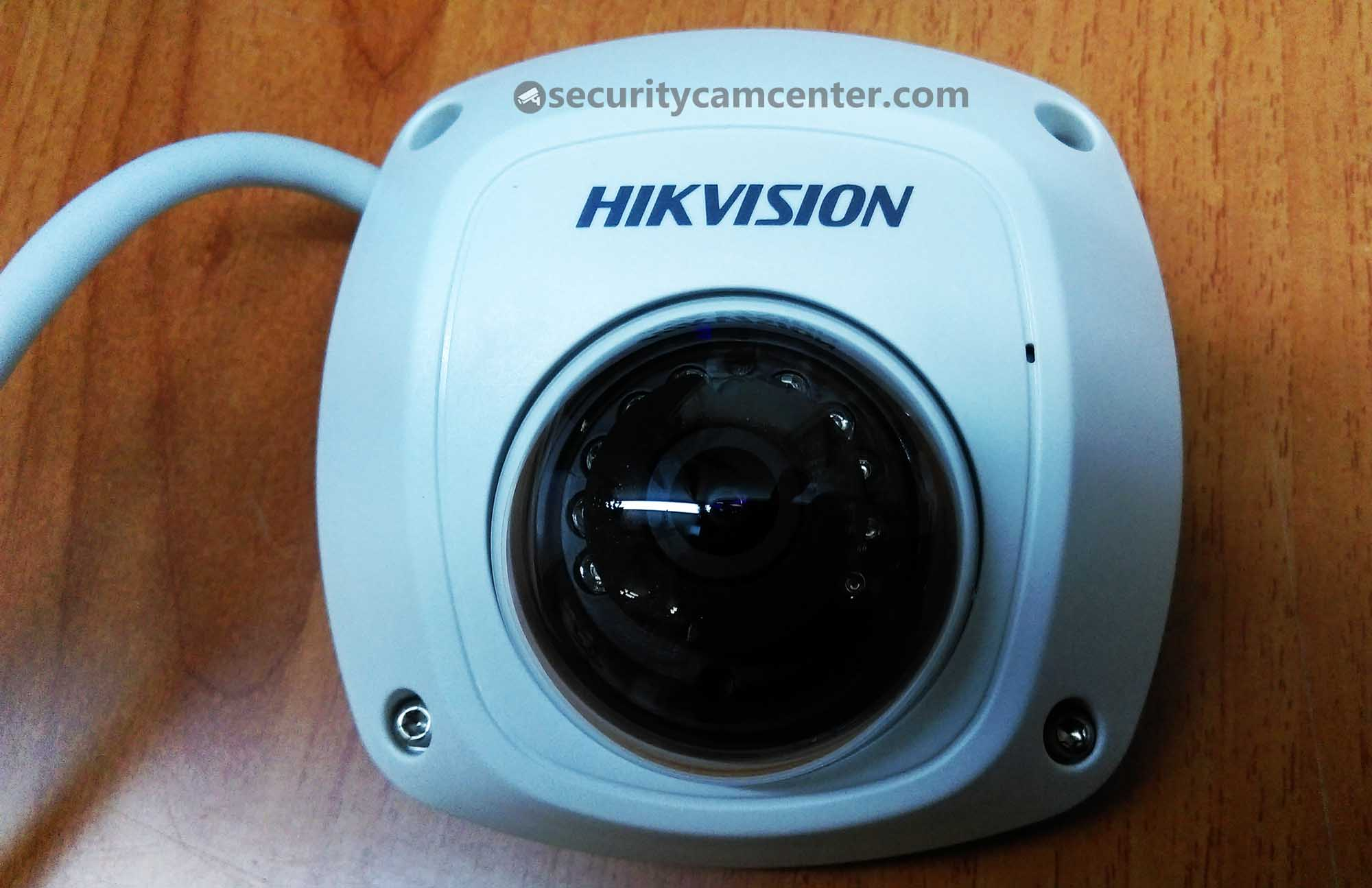 Hikvision DS-2CD2542FWD-IWS mini dome - view from the top.