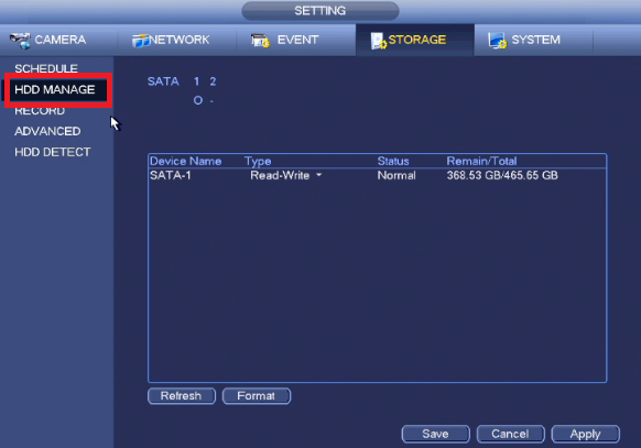 How to format the HDD on Dahua recorders