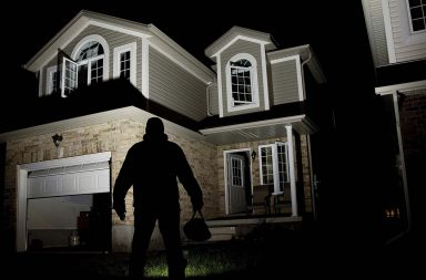 Where burglars most commonly break into homes?