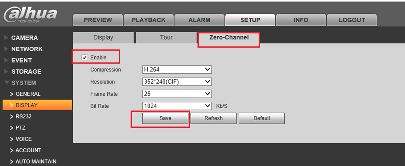 Zero-Channel on Dahua recorders.
