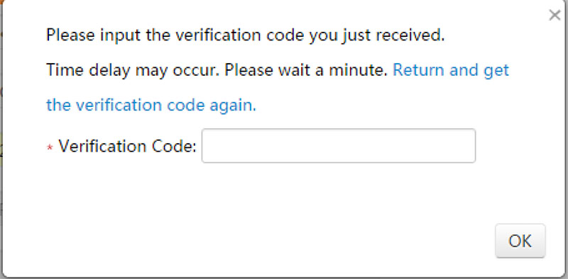 """Enter the verification code and wait till it says """"registration completed""""."""