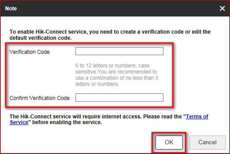 Create your verification code.