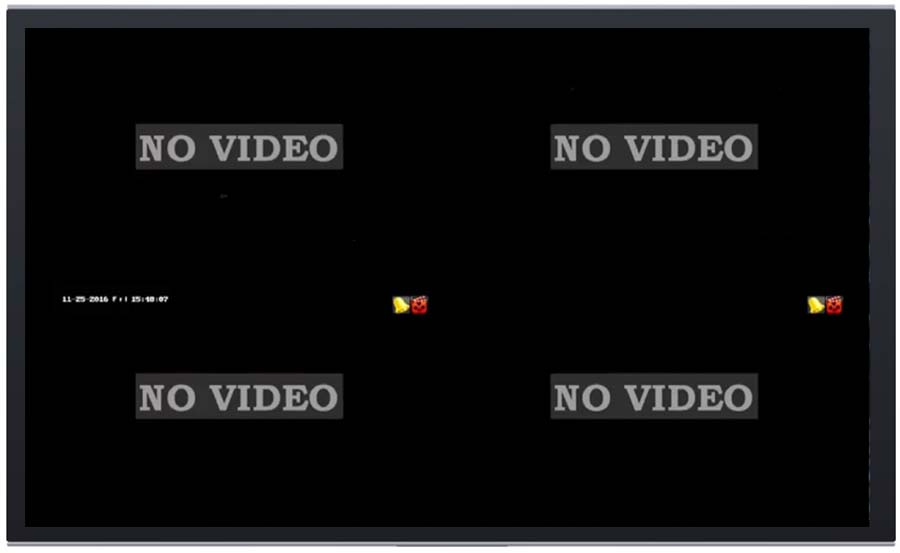 fix Video Loss in security camera