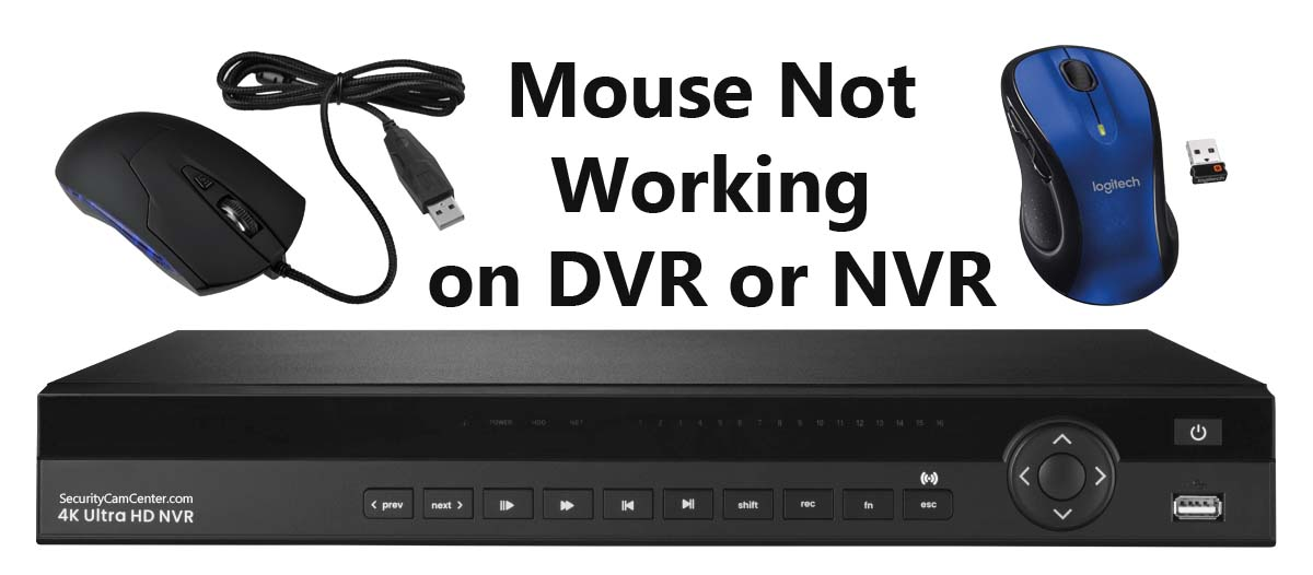 DVR Mouse Not Working